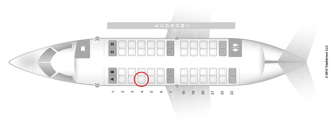 United Express CRJ-200 seat map