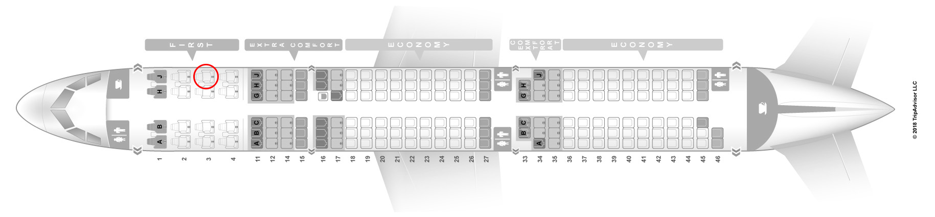 Hawaiian Airlines A321neo seat map