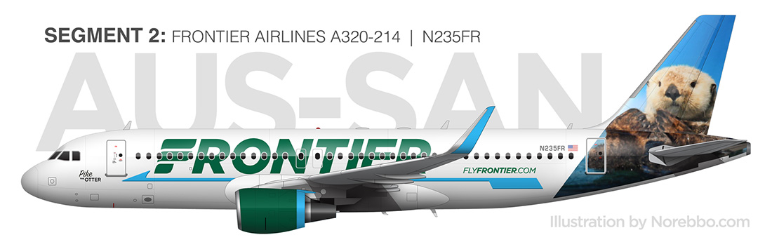 Frontier Airlines A320 n235fr pike the otter
