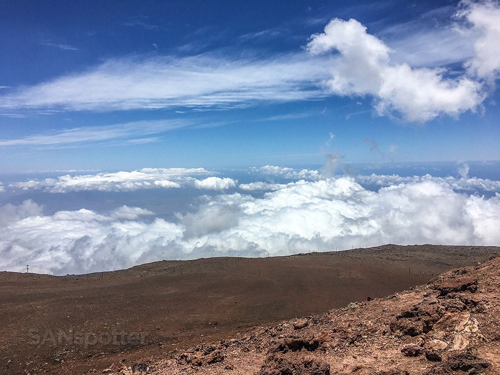 View from top of Maui volcano