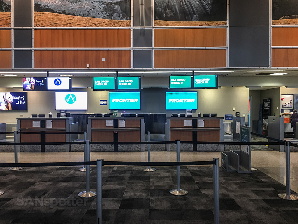 Frontier Airlines check-in counter Austin airport