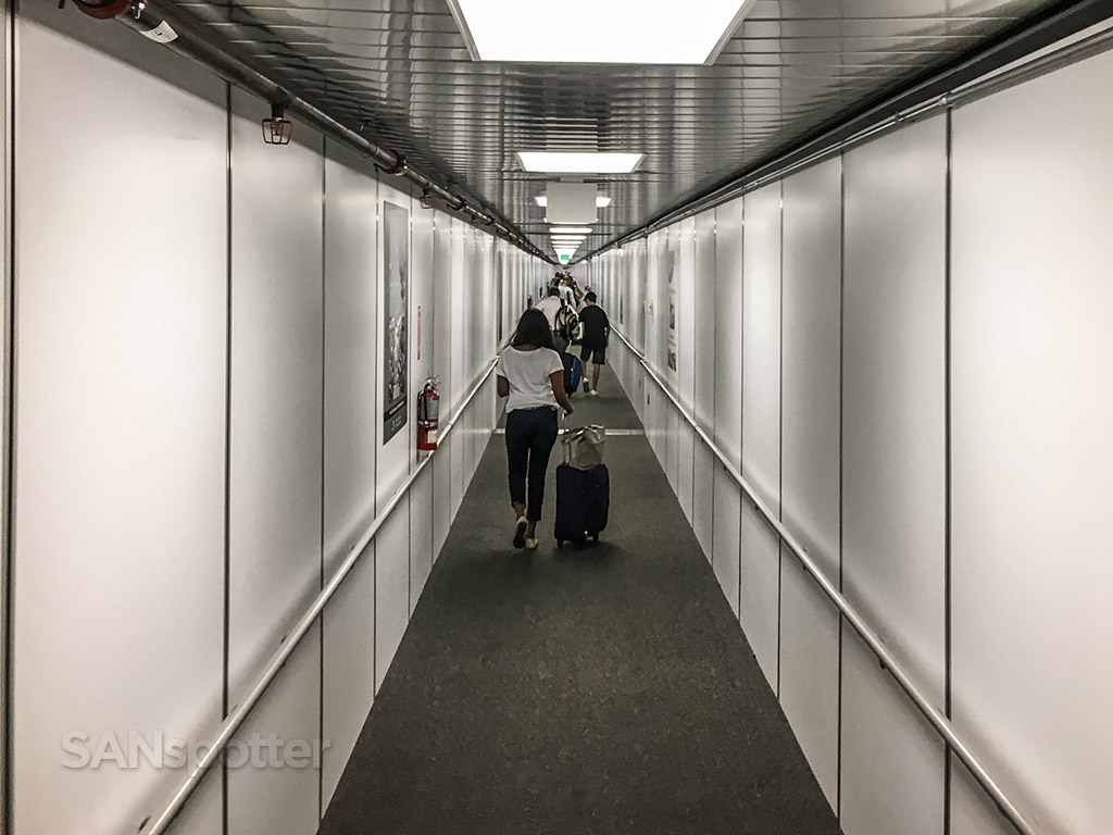 Austin airport really long jet bridge