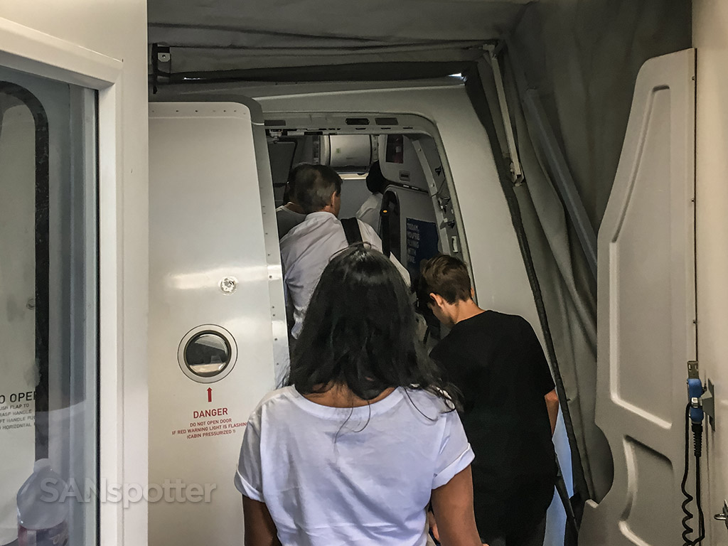 Frontier Airlines A320neo boarding door