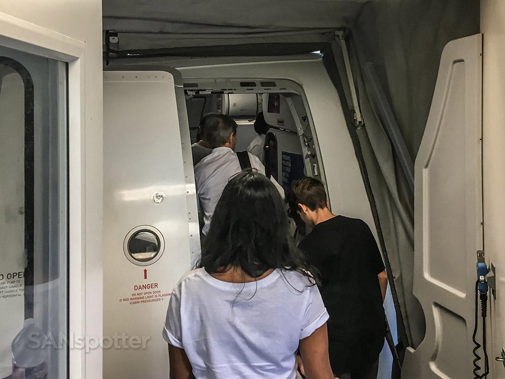 Frontier Airlines A320neo boarding door