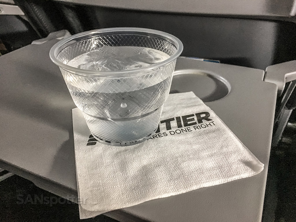 Frontier Airlines free water