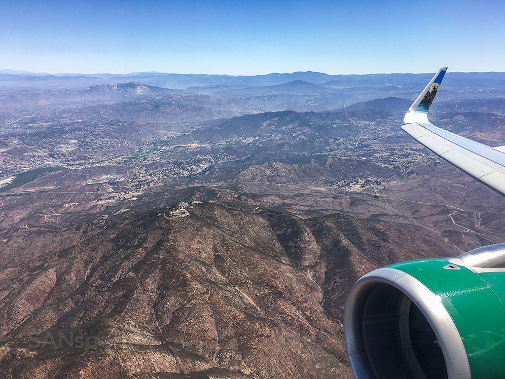 Frontier Airlines flight to San Diego