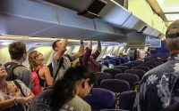 Hawaiian Airlines 767 economy class cabin
