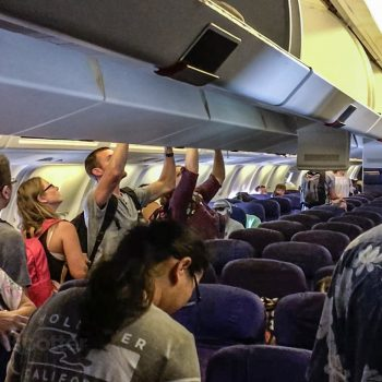 Hawaiian Airlines 767 economy class cabin