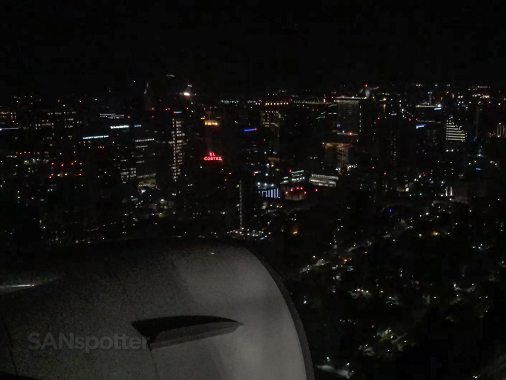 Flying over downtown San Diego airport approach