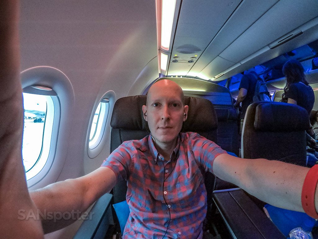 SANspotter selfie Hawaiian Airlines A321neo first class