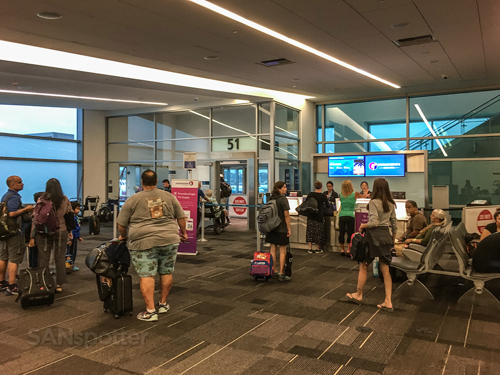 Gate 51 Hawaiian Airlines San Diego airport