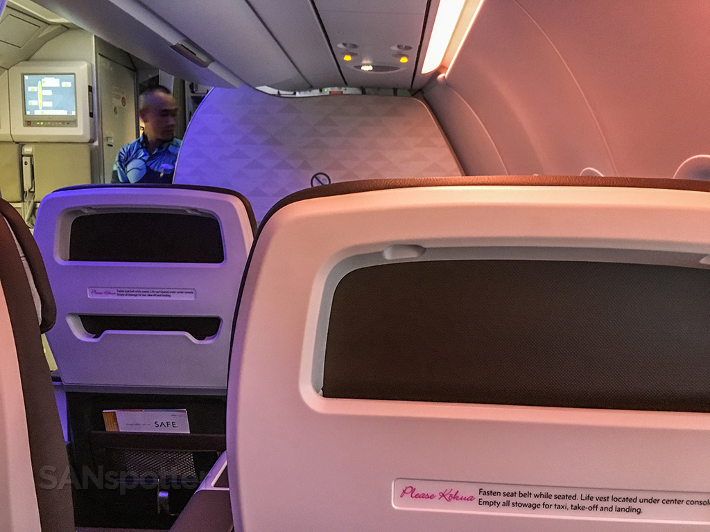 No video screens Hawaiian airlines A321neo