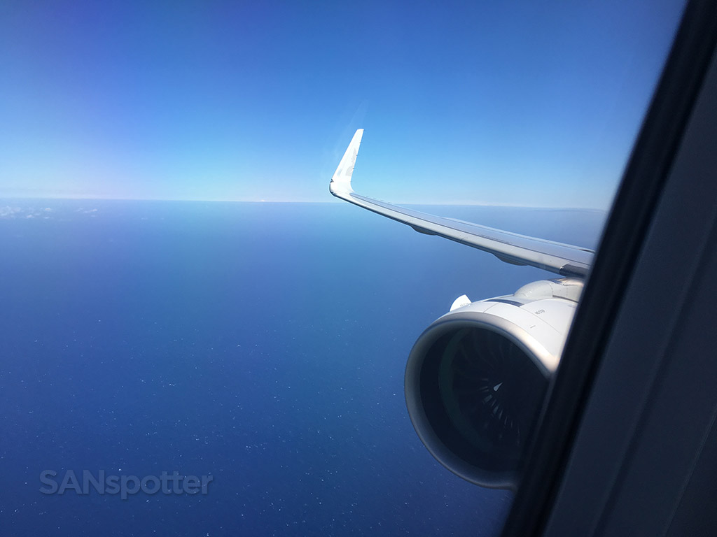 Approaching Maui Airbus a321neo