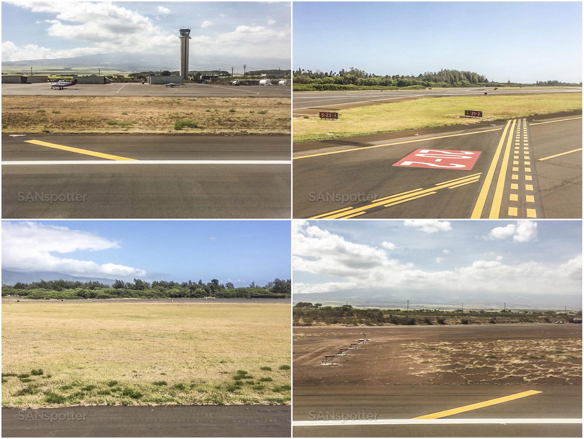 Landing at Maui airport