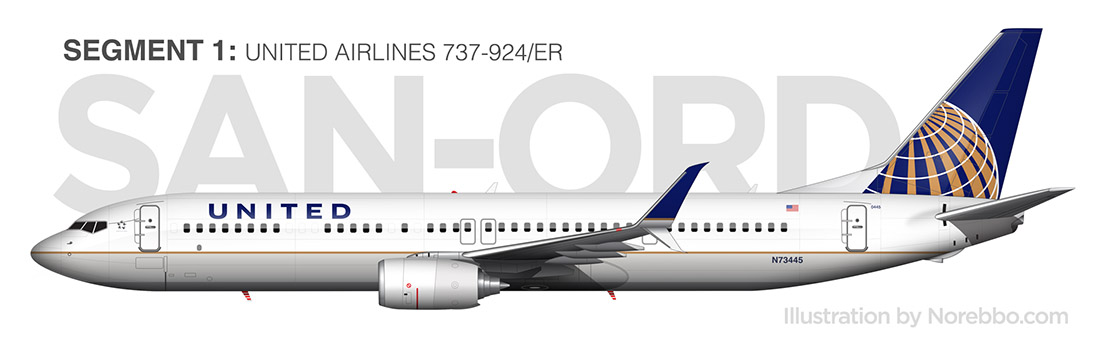 United Airlines 737-900/ER side profile