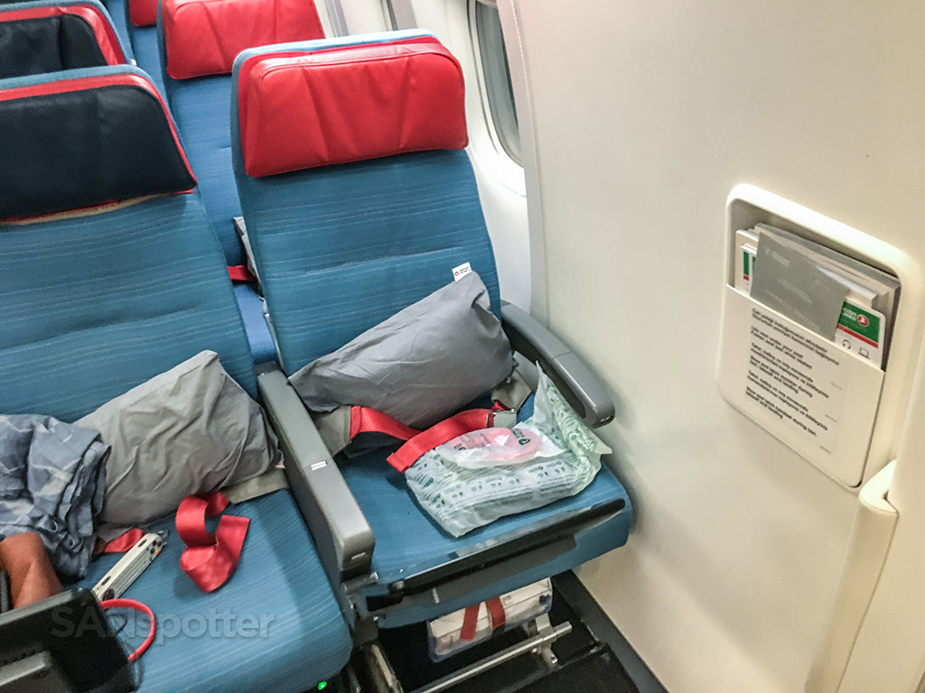 Turkish Airlines exit row economy class seat