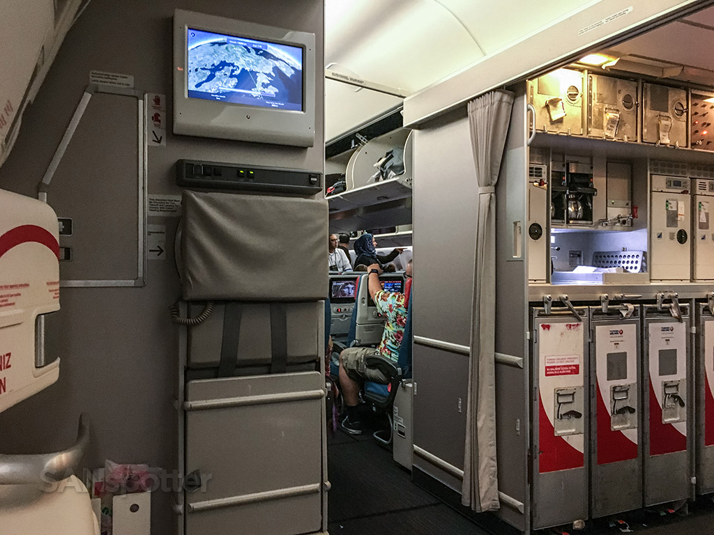 Turkish Airlines 777-300 galley
