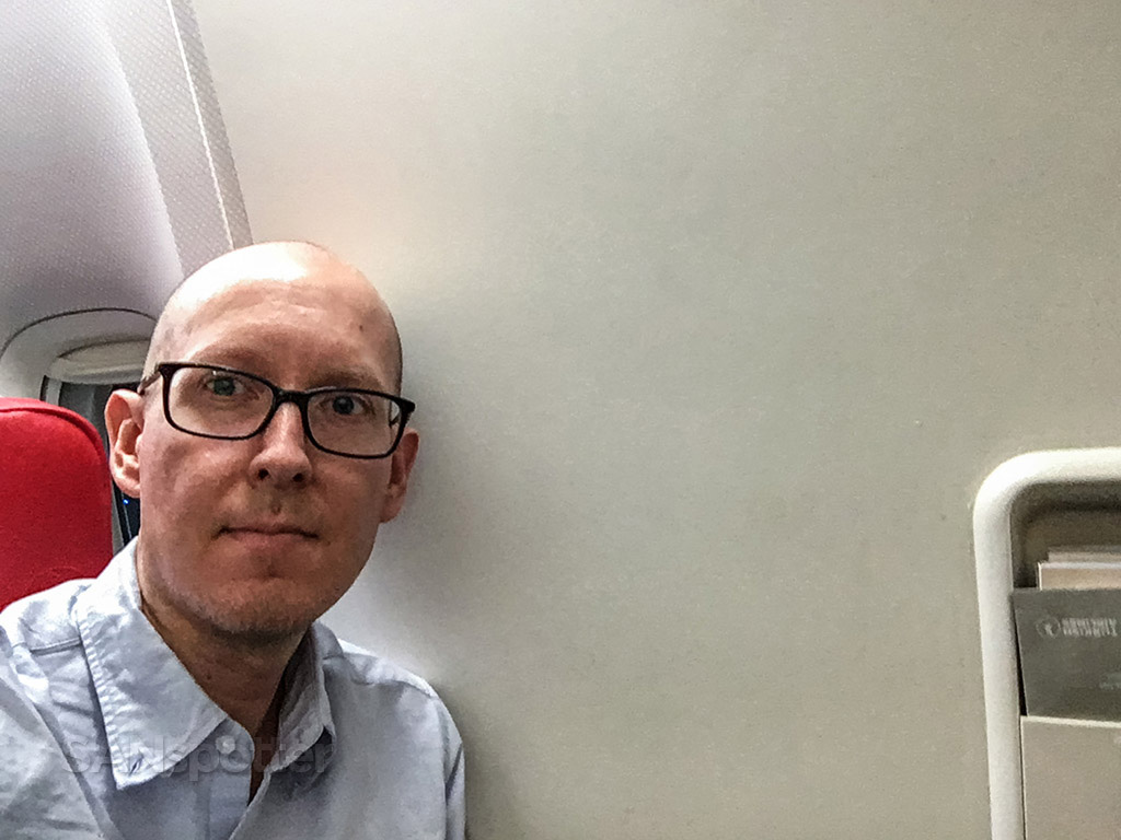SANspotter selfie turkish airlines no window