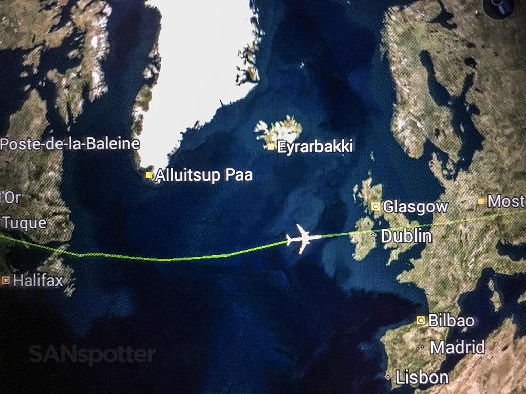 Flying transatlantic from Chicago