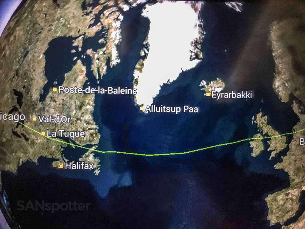 Chicago to Istanbul in-flight map
