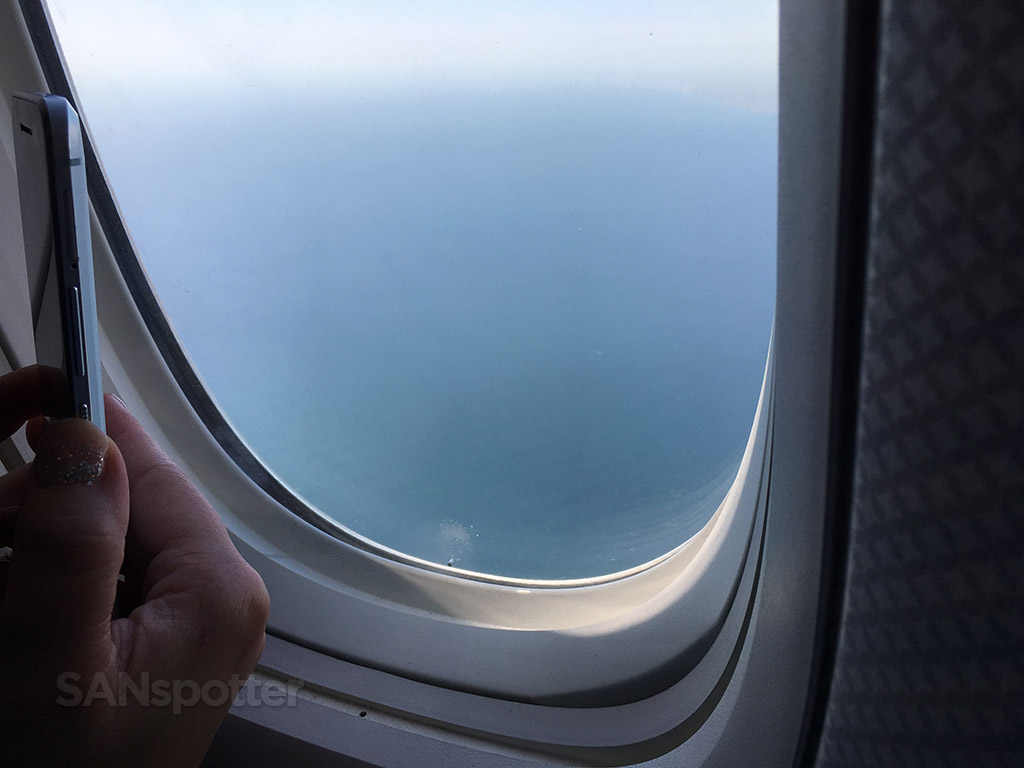 Flying over water into Istanbul airport