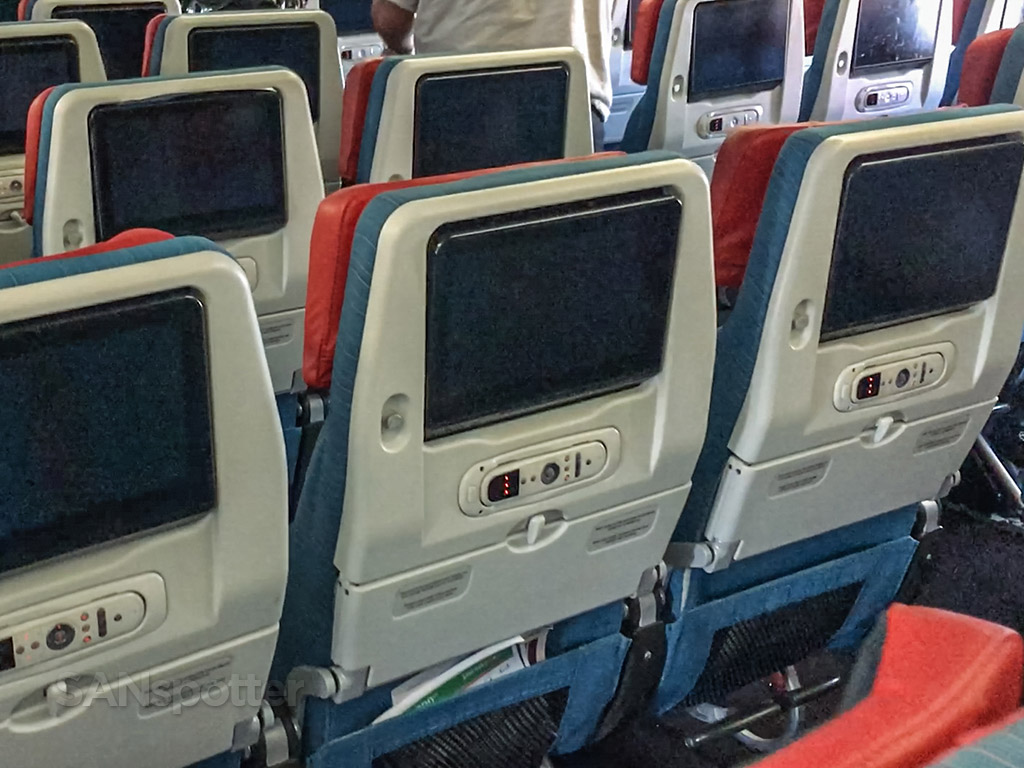 Turkish Airlines economy class seat video screen