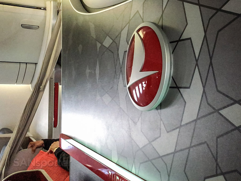 Turkish Airlines logo business class cabin 777-300