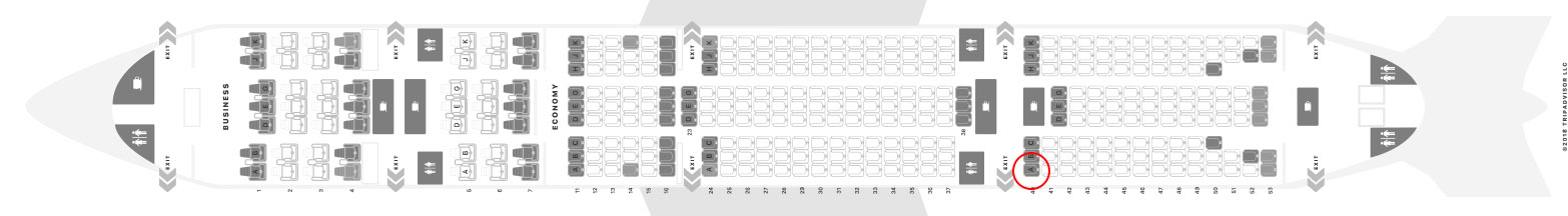 Turkish Airlines 777-300ER seat map