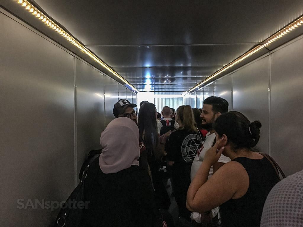 Claustrophobic jet bridge Istanbul airport