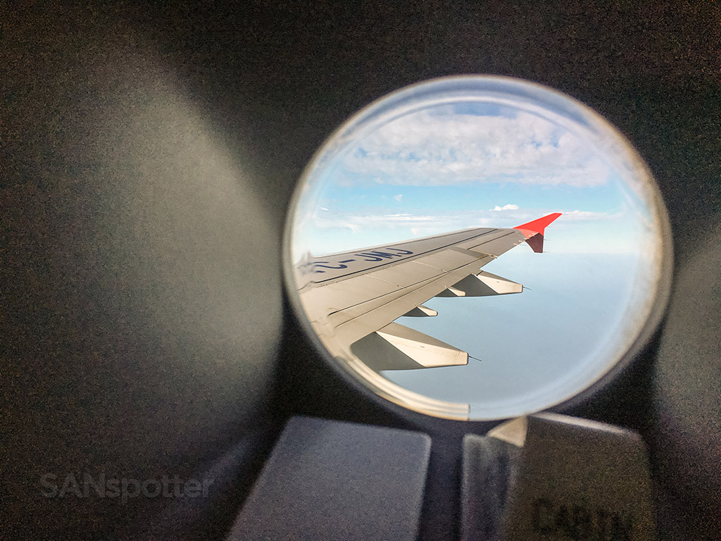 Turkish Airlines Airbus porthole window