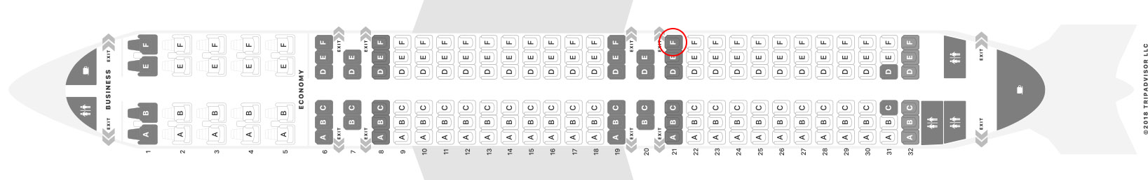 Turkish Airlines A321 seat map