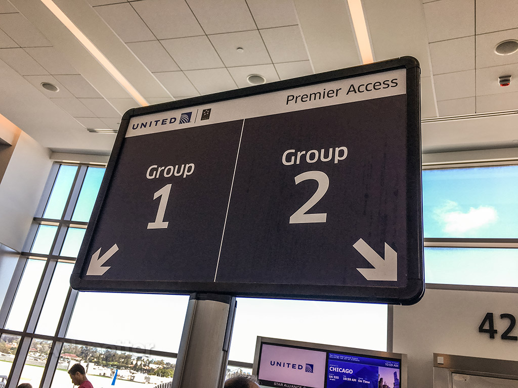 United airlines boarding zone one and two