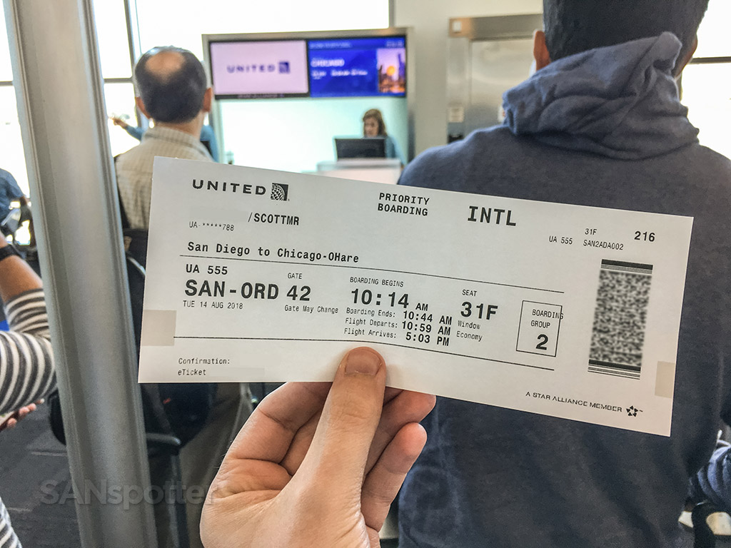 United airlines zone to boarding pass