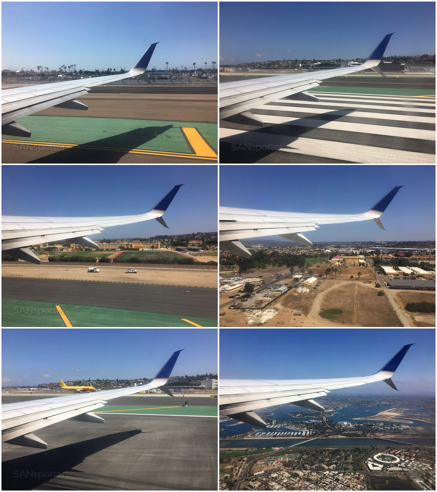 Departing San Diego airport United Airlines 737