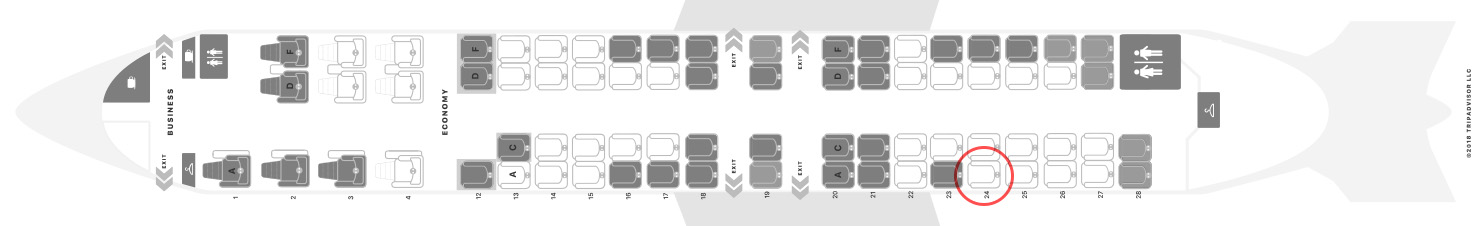Air Canada Express CRJ-900 seat map