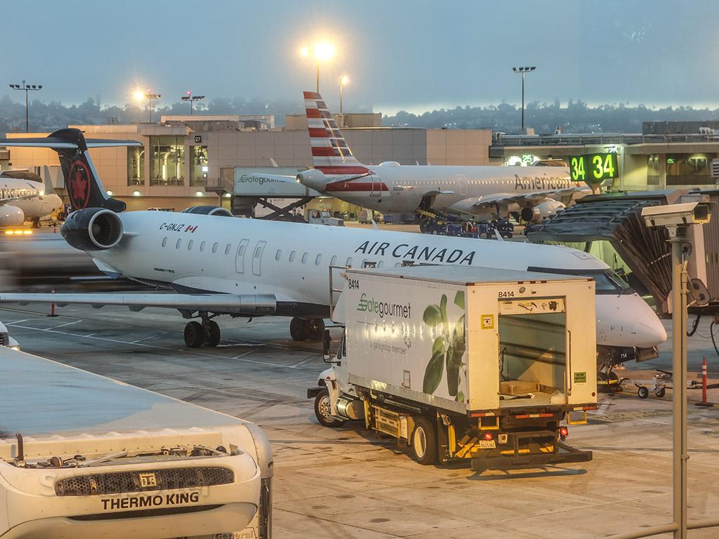 Air Canada CRJ San Diego airport