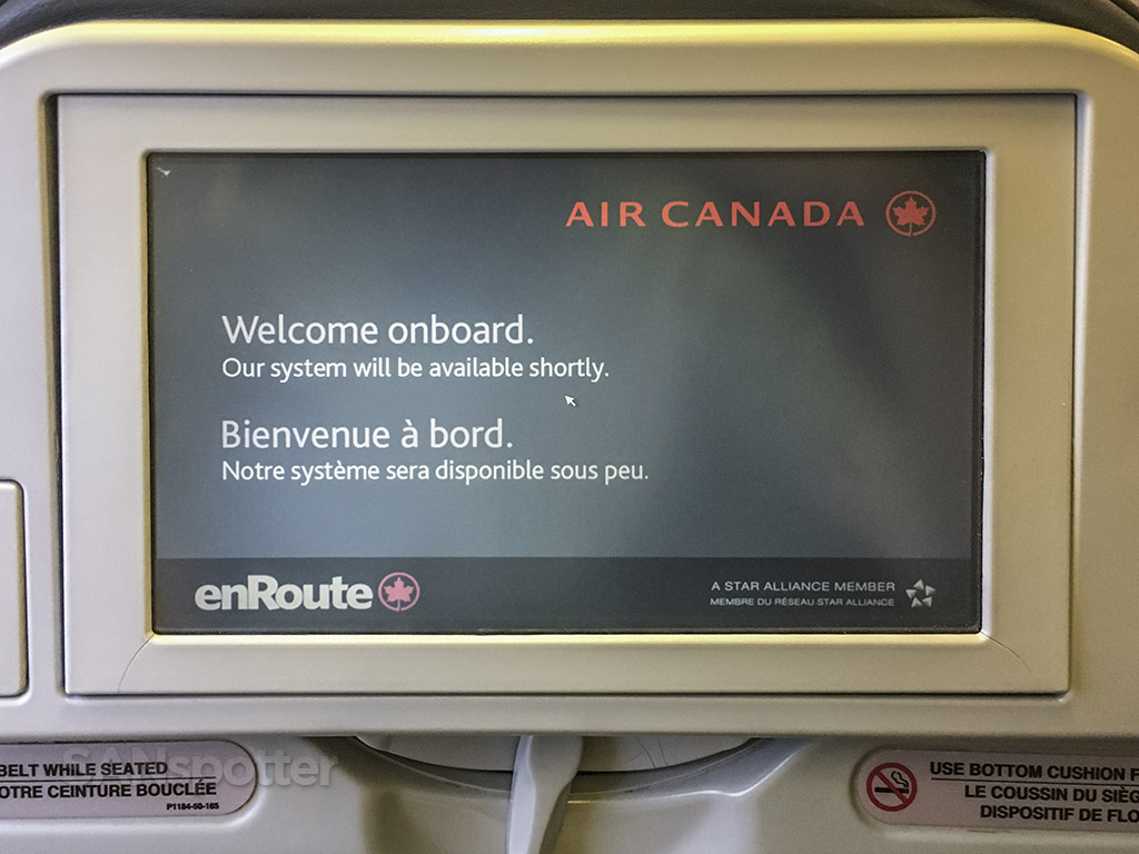 Air Canada express CRJ-900 video screen