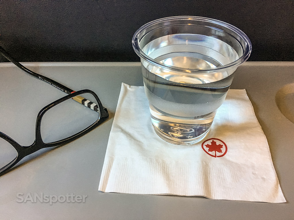 Air Canada express beverage service