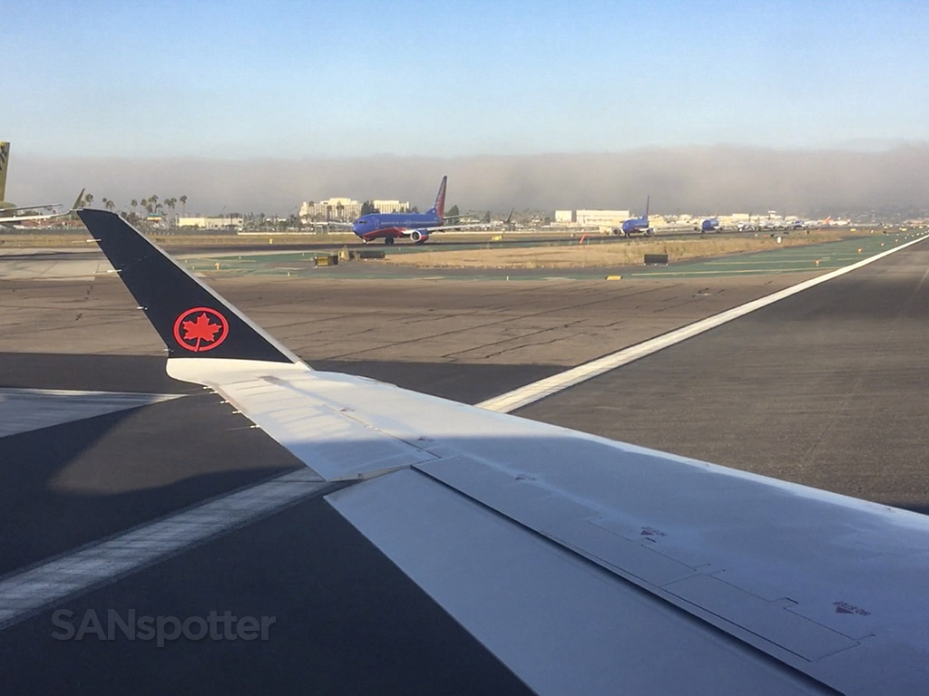 Fog at San Diego airport