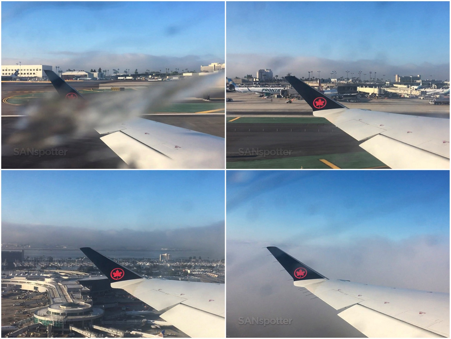 Air Canada takeoff from San Diego