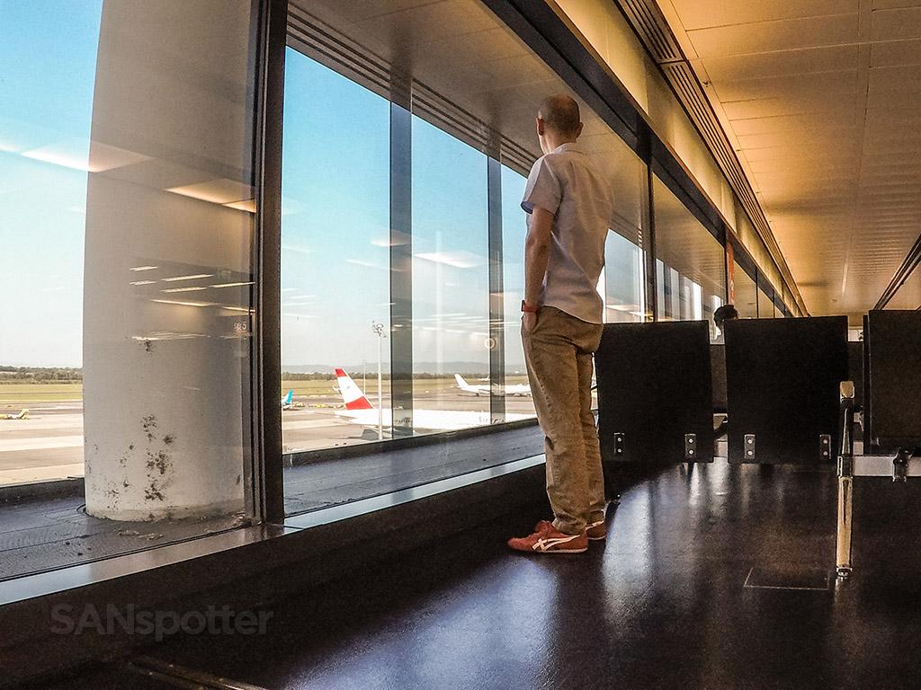 SANspotter selfie Vienna Airport