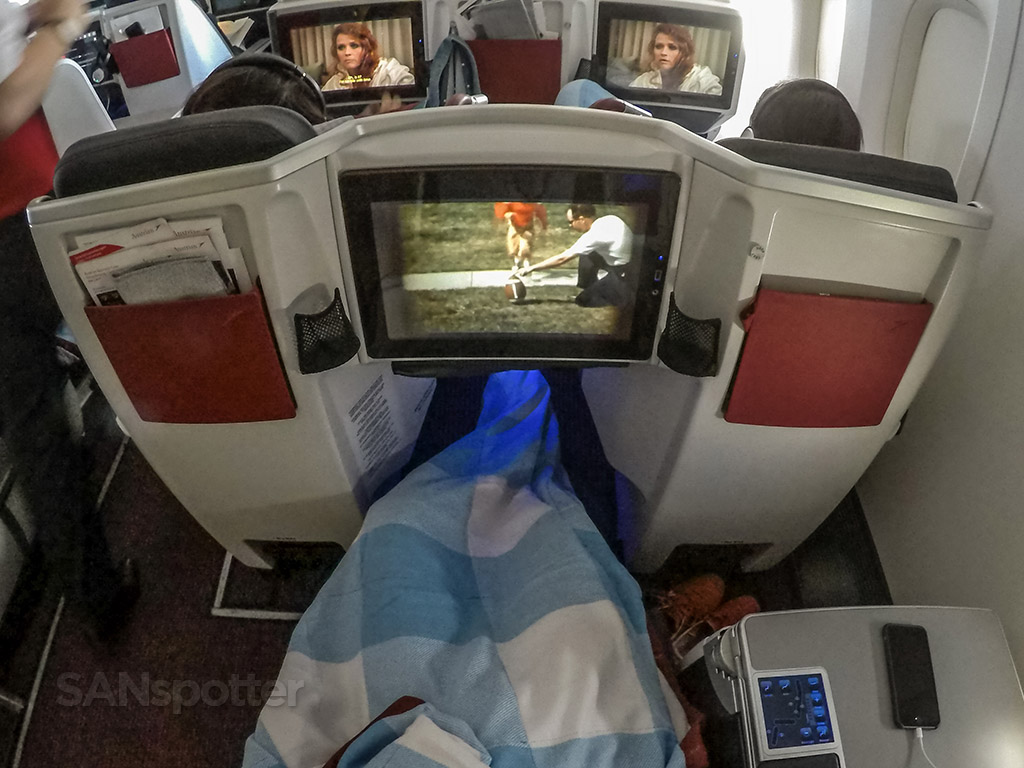 Austrian Airlines business class experience