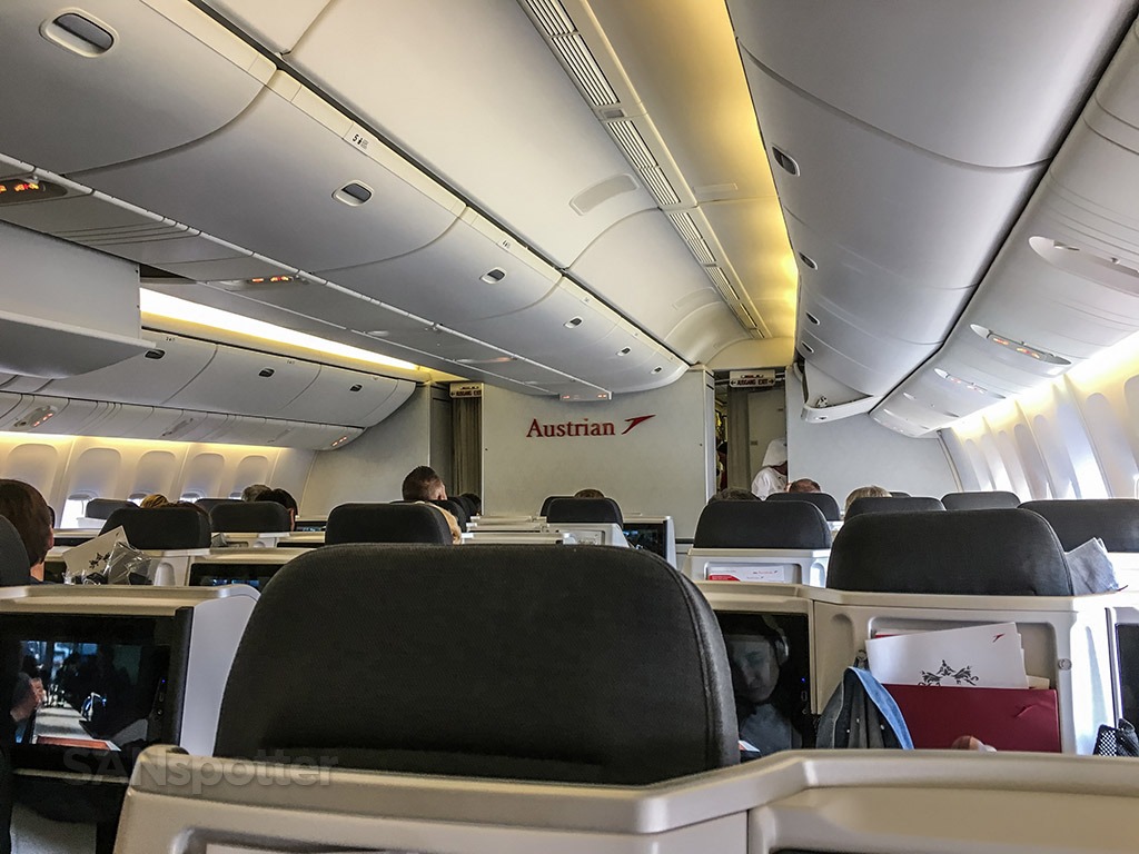 Austrian Airlines business class cabin