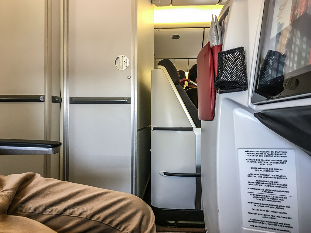 Austrian Airlines last row of business class