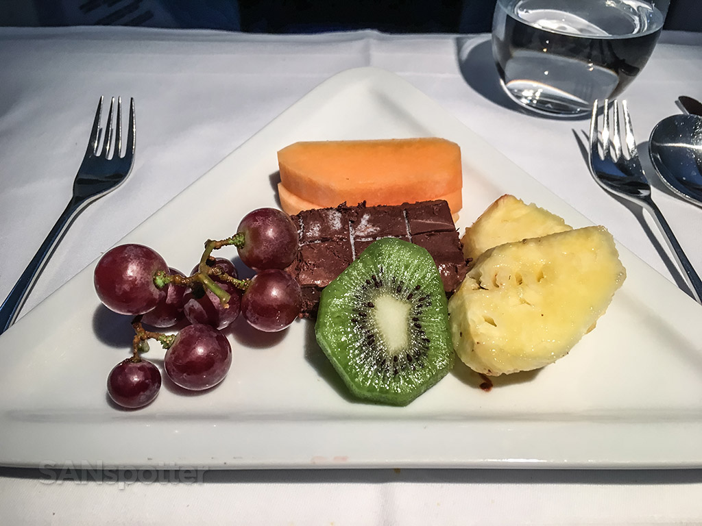 Austrian Airlines business class fruit plate