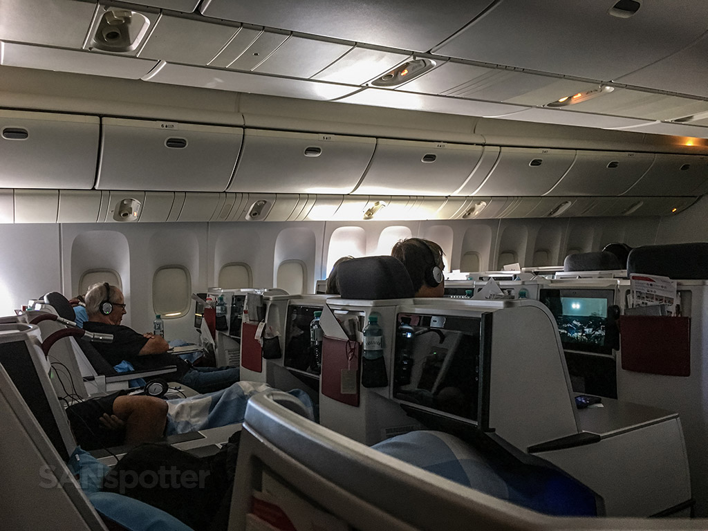 Austrian Airlines 777 business class review