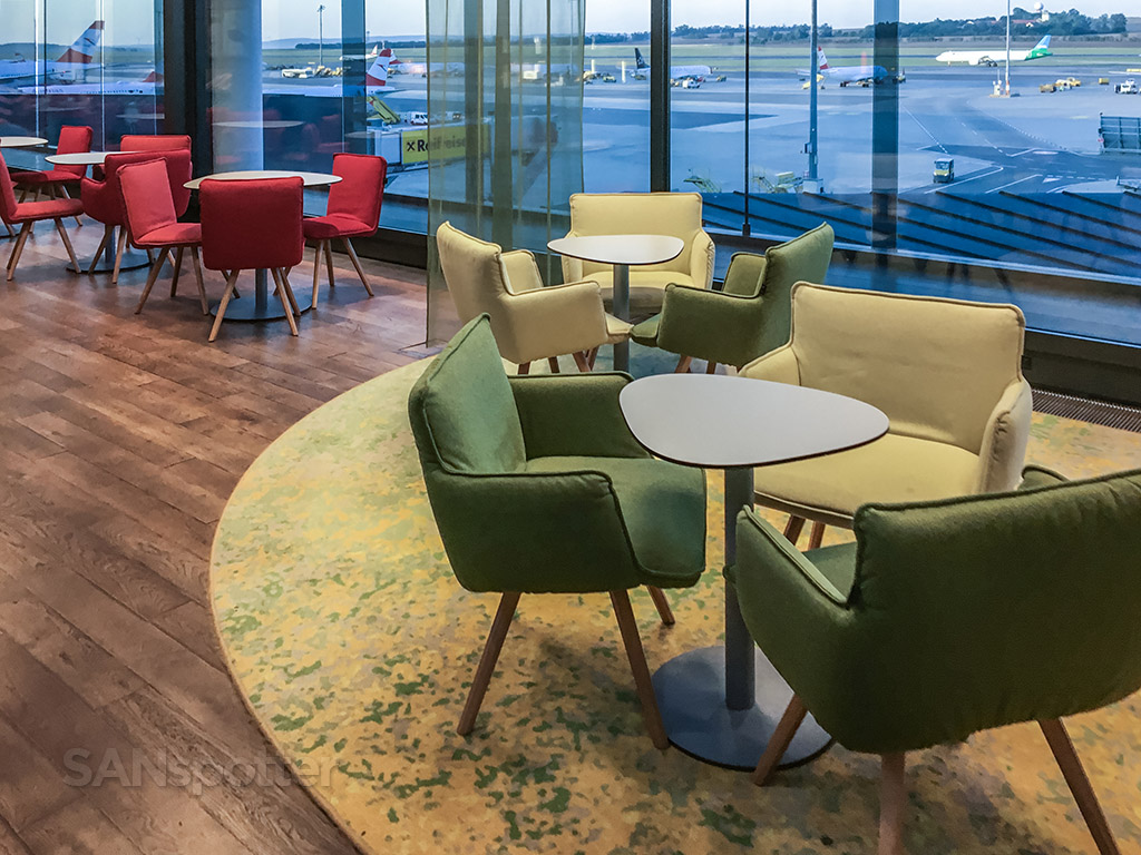 Austrian Airlines business class lounge chairs