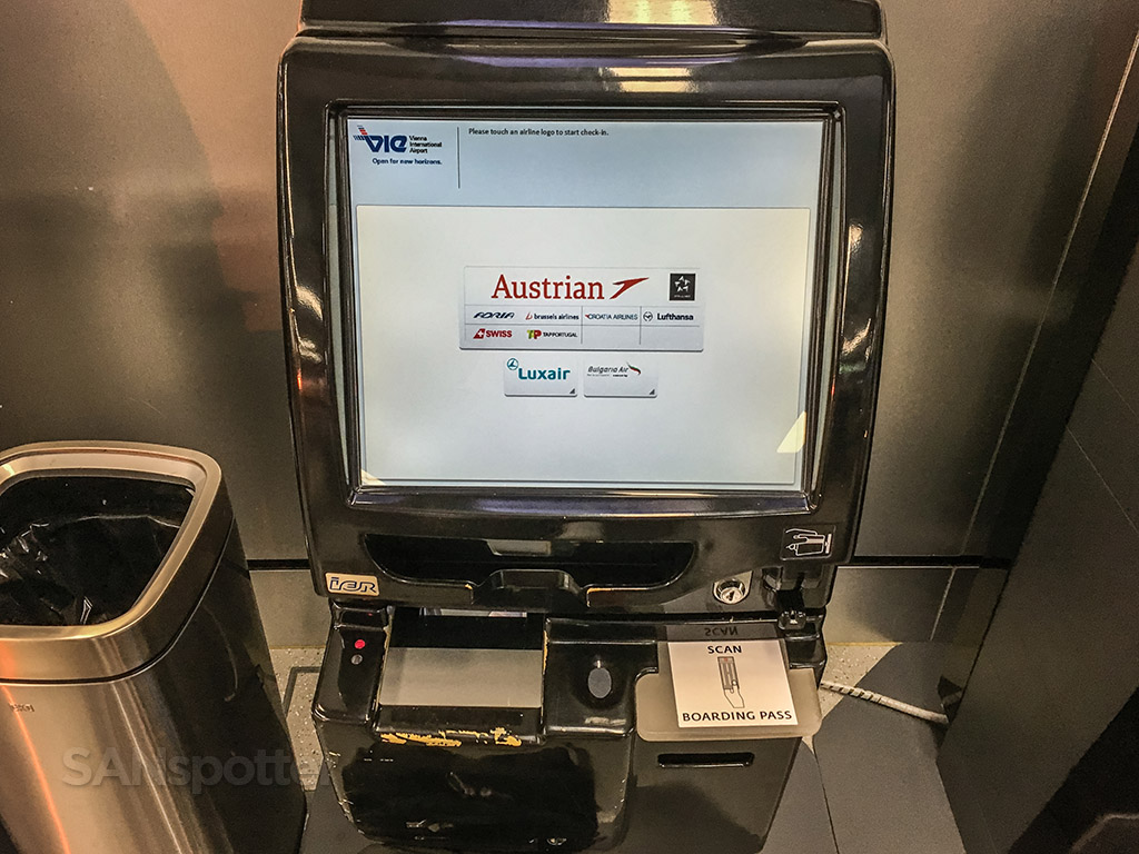 Vienna airport check in kiosk