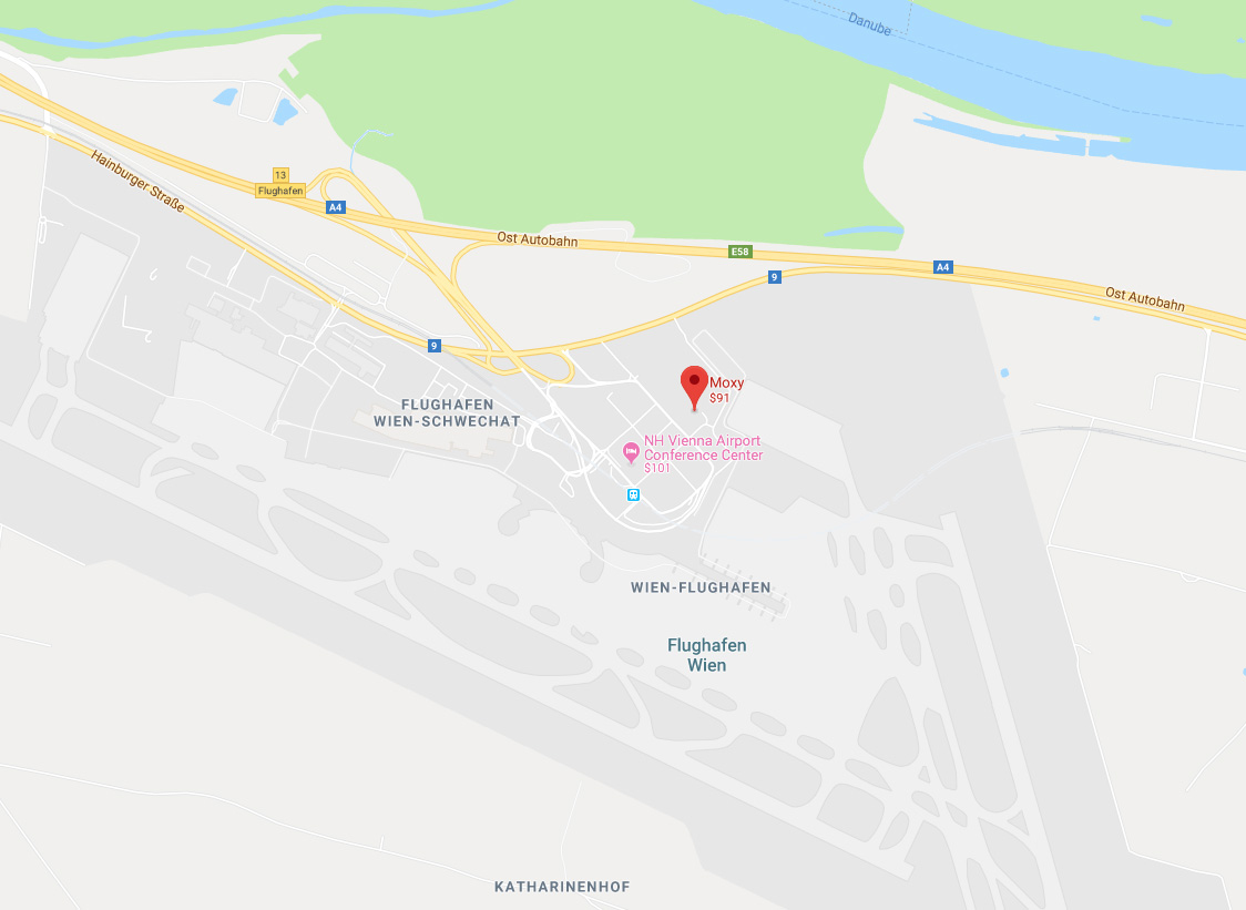 moxy hotel location map vienna airport