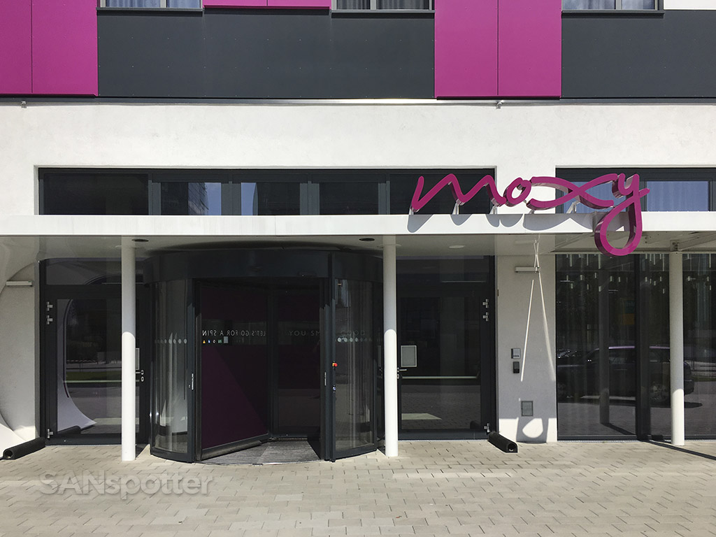 Moxy Hotel main entrance Vienna airport